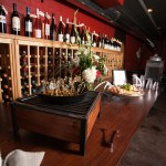 Wine Wall at Red Room Lounge and Venue in Austin Texas