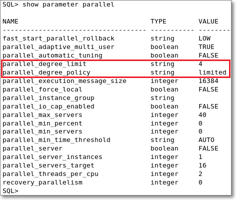Oracle: does PARALLEL_DEGREE_LIMIT really limit the DOP? (2/6)