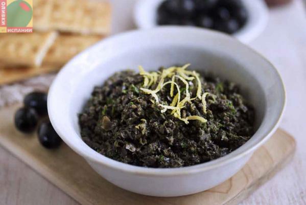 Тапенада из маслин и анчоуса