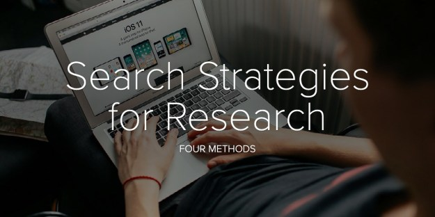 Search Strategies for Research