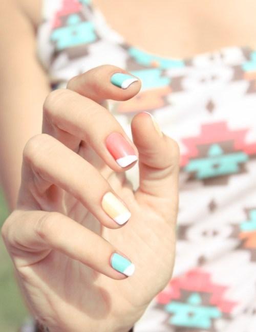 hello pastel nails