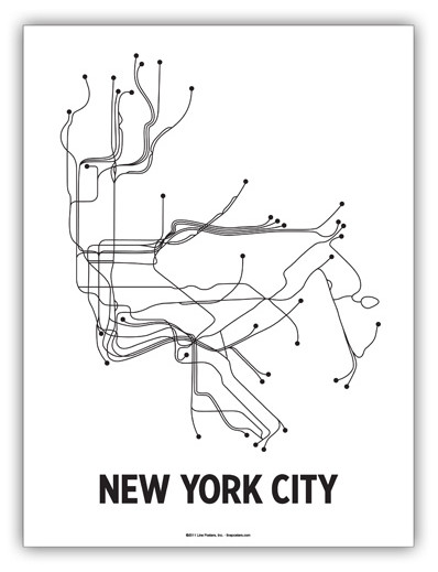 NYC Line Poster