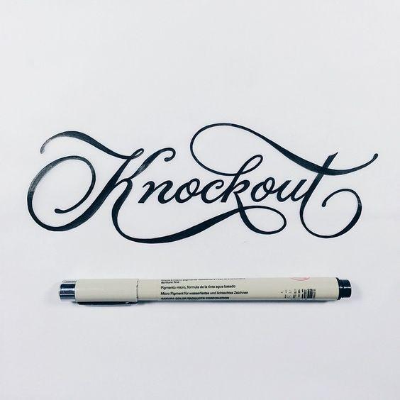 calligraphy type