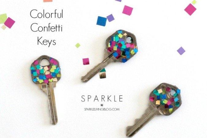 Colorful Confetti Keys