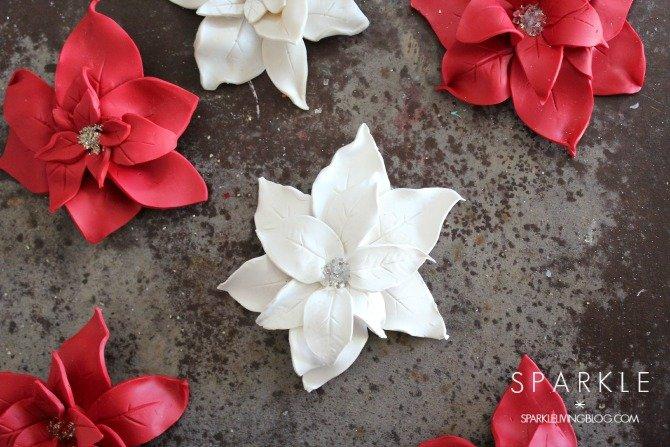 Make Sculpted Clay Poinsettia Ornaments
