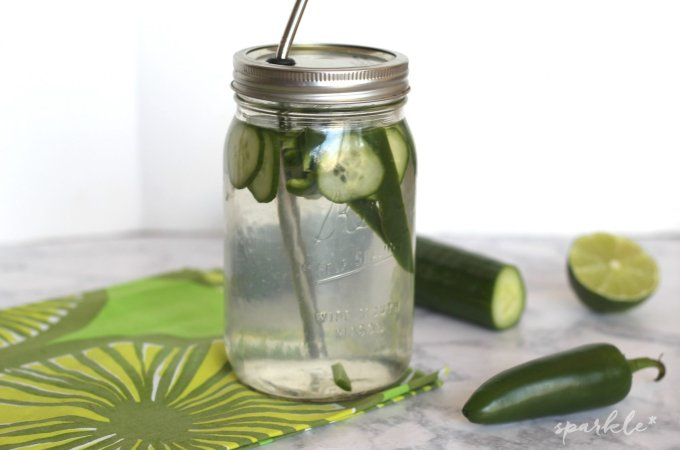 Jalapeno Cucumber Lime Infused Water