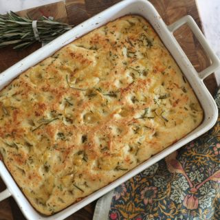 Roasted Garlic and Rosemary Focaccia Bread. Delicious and surprisingly easy to make.