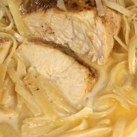 Lighter Chicken Lazone and Linguine