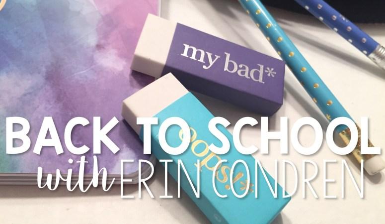 Back to School with Erin Condren