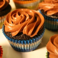Chocolate Malted & Roasted Marshmallow Cupcakes