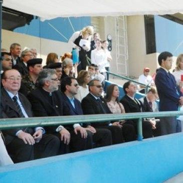 Autoridades participam da abertura da Copa América de Futebol da Special Olympics