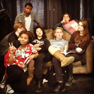 "The cast of ""The Disappearance of Daniel Hand,"" to be performed at Idyllwild Arts Academy.  FRONT: Ana-Lauryn Adderly COUCH: Nico Yasko, Chelsea Sik, Parker Anderson, Ariel Eakin REAR: Rowin M. Breaux, MacKenzie Shapiro"