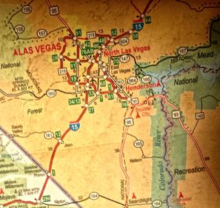 Las Vegas map AAA