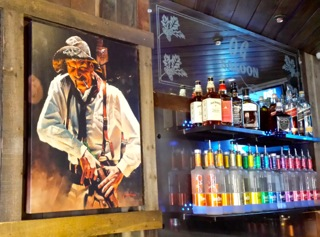 Fariad Ali painting Oak Glen Steakhouse & Saloon
