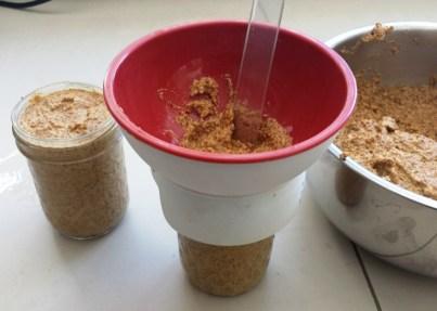 Mustard filling jars