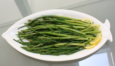 Samphire Asparagus vinaigrette