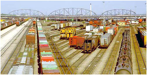 Canadian Pacific Railway marshalling yards , Winnipeg , Manitoba , Canada