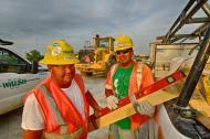 Brad Ray And Antonio Villaneeva On The Ohio River Bridges Project In Louisville Ky.