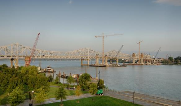 Ohio River Bridge Towers on the First Day of Fall 2014 #2