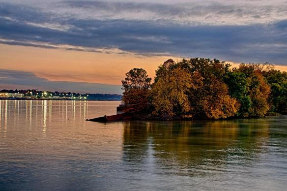 Towhead Island is at the eastern end of Waterfront Park in Louisville, KY.