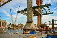 Walsh Construction has placed the first sections of bridge deck panels for the Downtown Span of the Ohio River Bridges Project in Louisville, Kentucky.