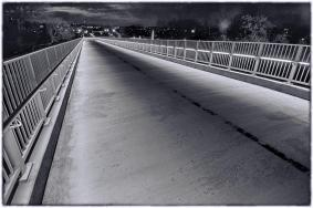 Indiana Ramp at Night. B&W Version