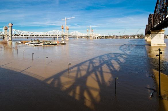 Ohio River Flooding of Waterfront Park #4
