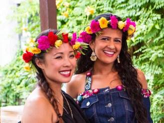 The Spice Madams rocking Black Petal Floral crowns