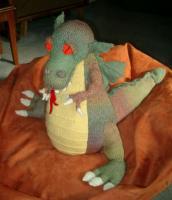Nancy's handknit dragon