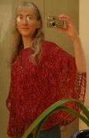 Wanda's Flowers shawl in Lisa Souza's Petal yarn
