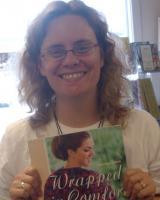 Stephanie holding my book