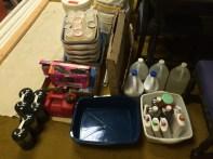 Foot washing supplies