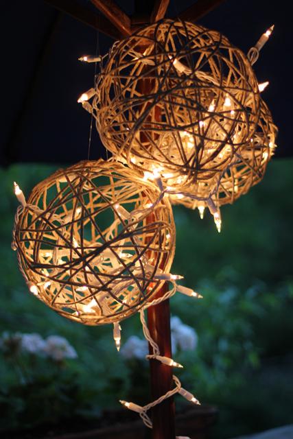 DIY wedding decorations twine mache fairy lights
