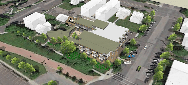 An architectural rendering of the Jesuit Residence/Courtesy Gonzaga University