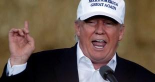 "Republican nominee Donald Trump speaks at ""Joni's Roast and Ride"" in Des Moines, Iowa, U.S., August 27, 2016.   REUTERS/Carlo Allegri"