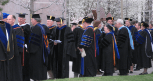 Academic doctors gather before the commencement exercises at Brigham Young University (April 2008). Wikipedia photo by Eustress