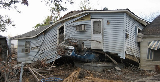 After the levees broke. Lower 9th Ward, New Orleans. Flickr photo by Infrogmation of New Orleans