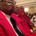 Tuskegee Airmen attend the funeral of William E. Broadwater, who died recently.