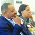 (l-r) Anthony Hines and Suwana Kirkland