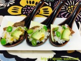 Roast Beef with Avocado, Cheese, EDAMAME, Black Pepper and Consomme Jelly SpoonSushi!2