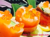 Smoked Salmon with IKURA, Cucumber and Lemon SpoonSushi!5