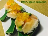 Prosciutto with Avocado, Cream Cheese and Consomme Jelly SpoonSushi!4