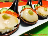 Scallops with IKURA, Cucumber and WASABI SpoonSushi!4