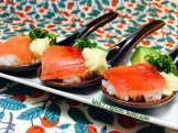 MAGURO with SHISO Leaves, Avocado and Mayo SpoonSushi!3