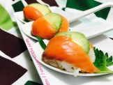 Smoked Salmon with Avocado and SHISO Leaves SpoonSushi!6