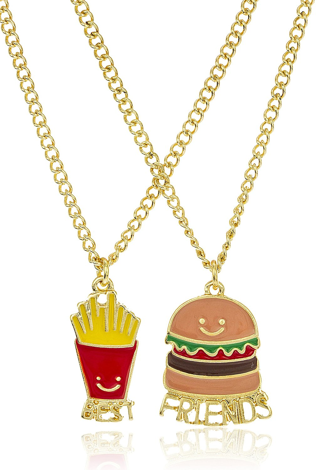 Ideal Burger People Who Love Food Burger Fries Friend Necklaces 3 Friends Necklace Amazon Fries Friend Necklaces Foodies Friends Necklace bark post Best Friends Necklace