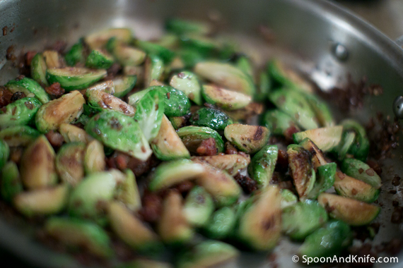 Caramelized Brussels Sprouts with Shallots and Bacon Recipe