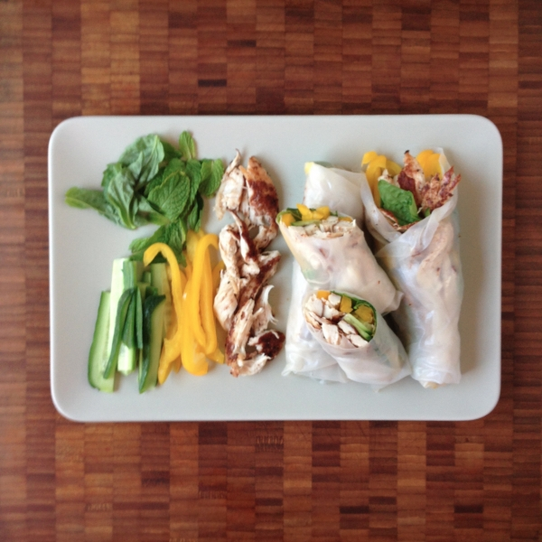 spring roll tutorial - step 6