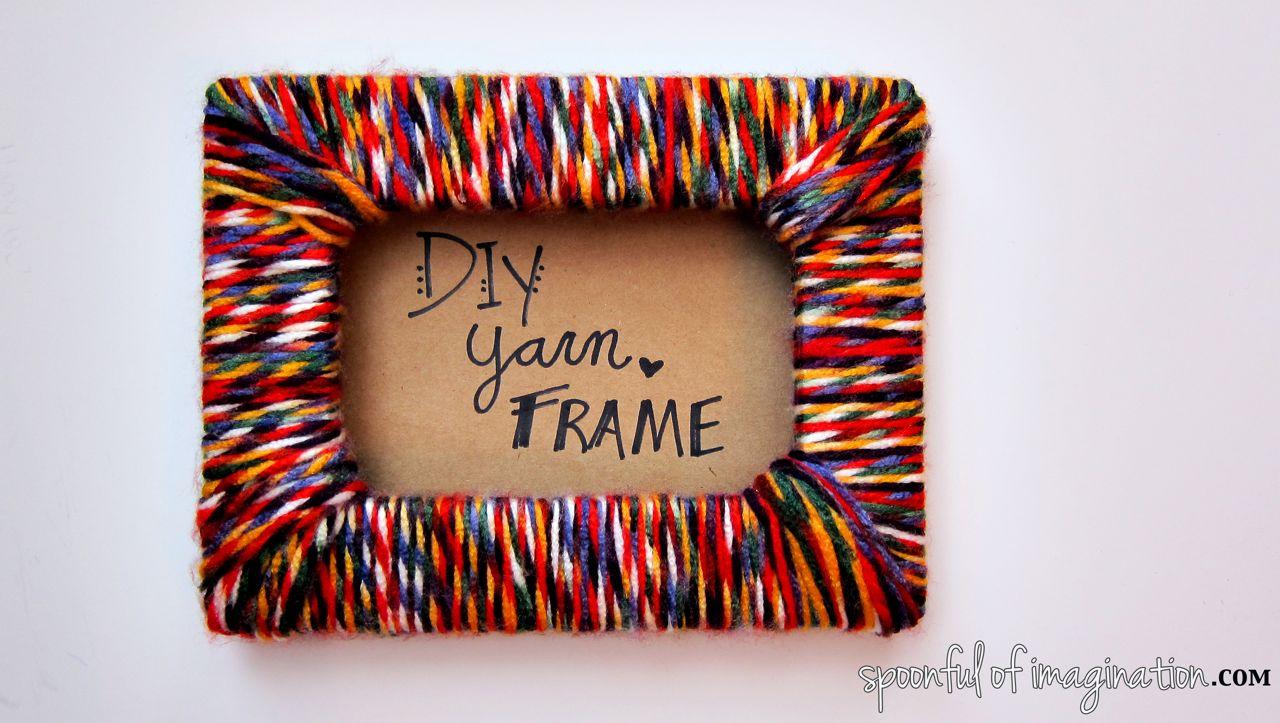 Stylized Imagination Diy Frame Wood Diy Frame Headboard Diy Yarn Frame Diy Yarn Frame Spoonful photos Diy Picture Frame