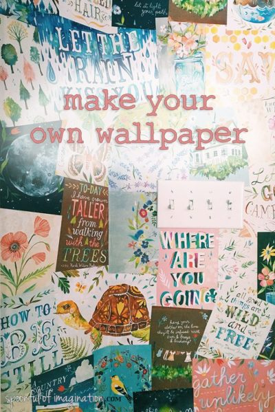 How to Make Your Own Wallpaper - Spoonful of Imagination